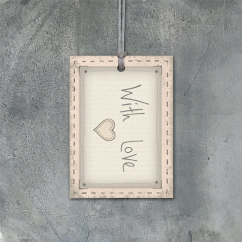 Pink Blush Gift Tag - With Love 9126
