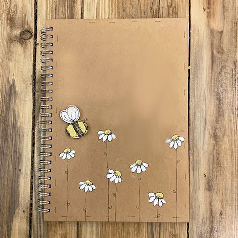 Personalised Notebook BLANK - Little Daisies & Bee 9682