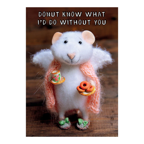 Tiny Squee Mousies Card - Donut Know What I'd Do 8120