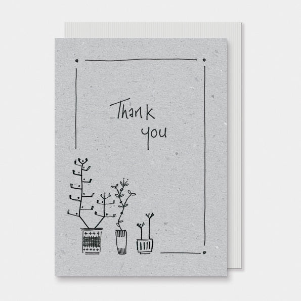 Greetings Card Ink Flower - Thank You 8803