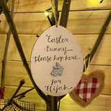Easter Egg Plaque 15cm - with Bunny 9814