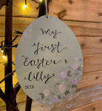 Easter Egg Plaque 15am - Floral 9815