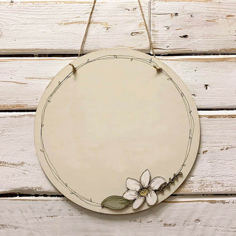 Personalised Round Plq with Daisy Flower - BLANK 9820