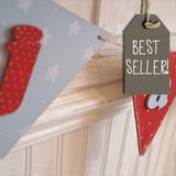 Handmade Wooden Bunting - Blues 9864