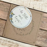 Handmade Roses Round Plq & Card Set - Be Still & Know 9956