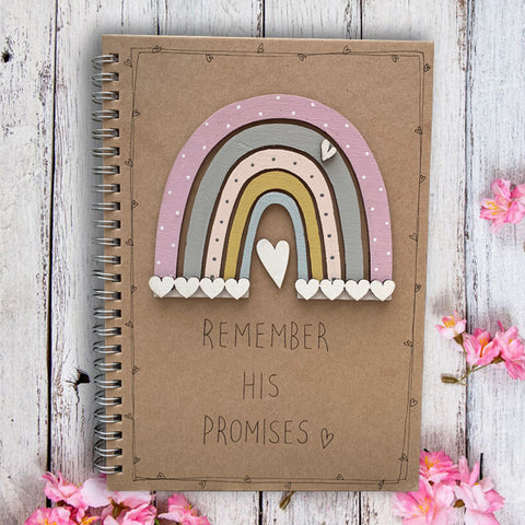 Handmade Rainbow Notebook - Remember His Promises 9960