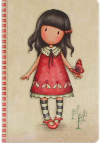Gorjuss A5 Stitched Notebook - Time to Fly 7376