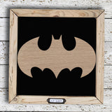 Handmade Lg Framed Superhero Sign - Batman 9983