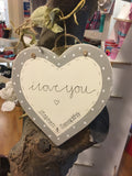 "6"" Heart with Border - I Love You 5757"