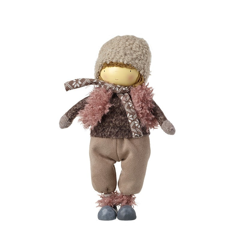 Plush Deep Brown & Pink Figure 9427