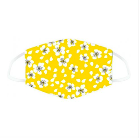 Adult Face Mask - Yellow Floral 10412