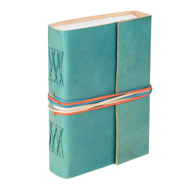 3 String Turquoise Leather Journal 8255