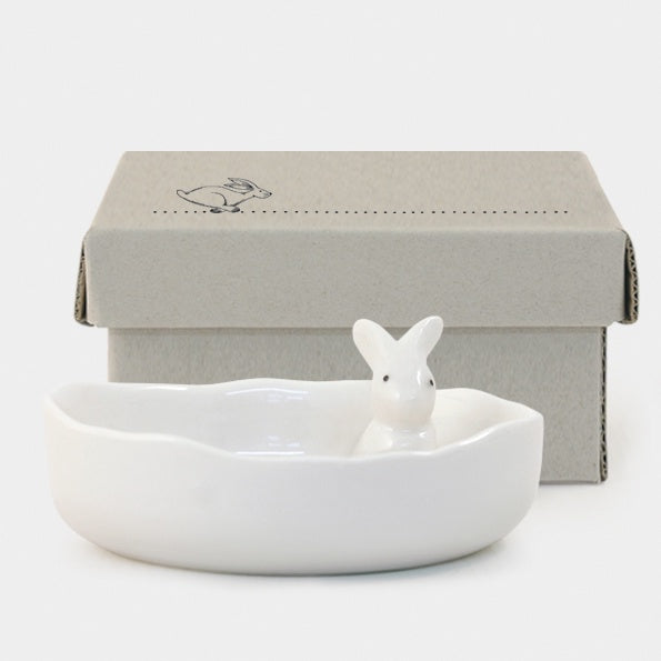 Porcelain Jewellery Dish - Bunny 8789