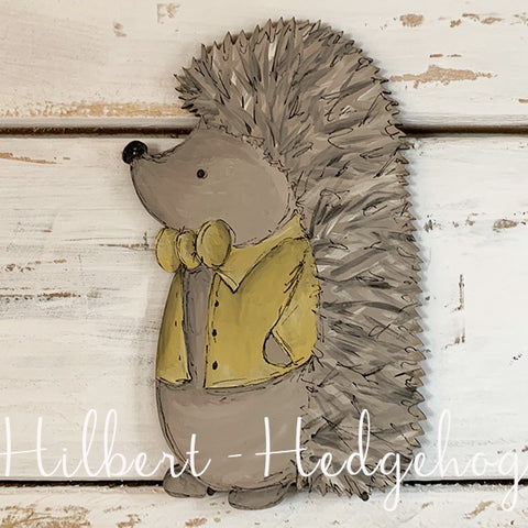 Personalised Animal Range - Hilbert Hedgehog Lg Plaque 9680