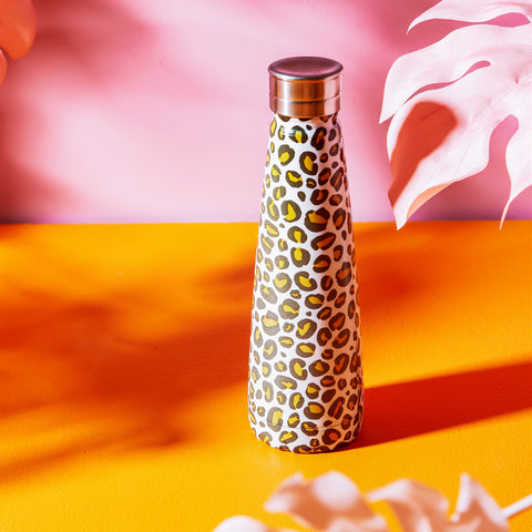 Steel Water Bottle - Leopard Love 10388