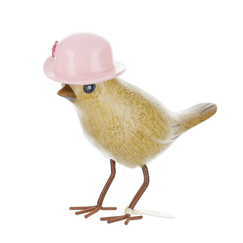 DCUK Garden Bird with Floral Hat - Light Pink 9806