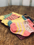 Baby Ankle Socks - Stripe Pink 7846