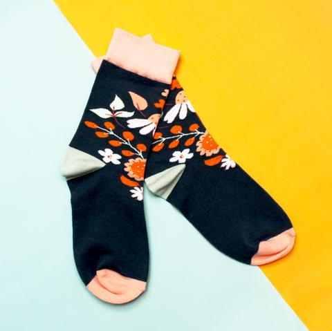 Disaster Eden Socks - Navy 10420