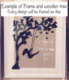 Silhouette with Tree in Lg Frame - Walking with Teddy 5511