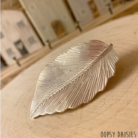 Silver Leaf Brooch 10877
