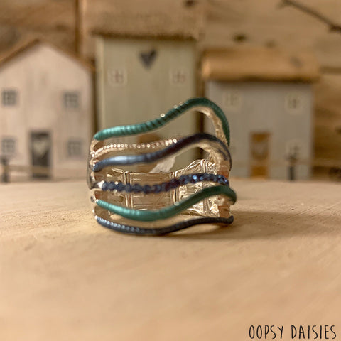 Blue Wave Ring 10874