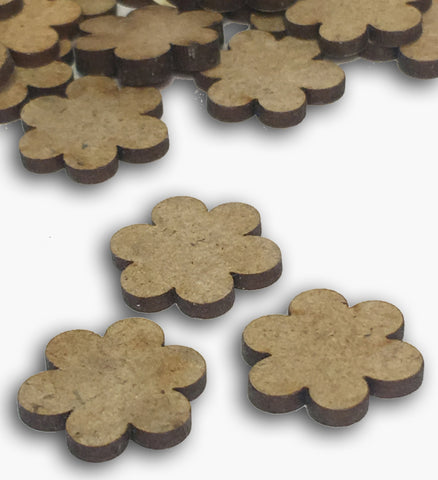 Mini Wooden Flower Embellishments 8574