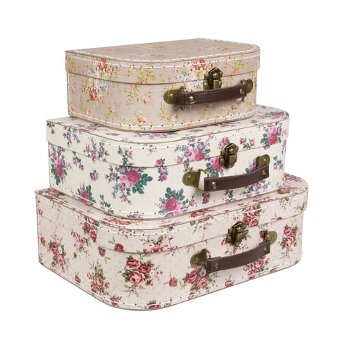 2137 vintage rose suitcase set of 3 gif023