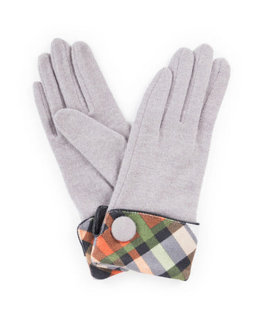 Powder Heather Wool Gloves in Slate 8217