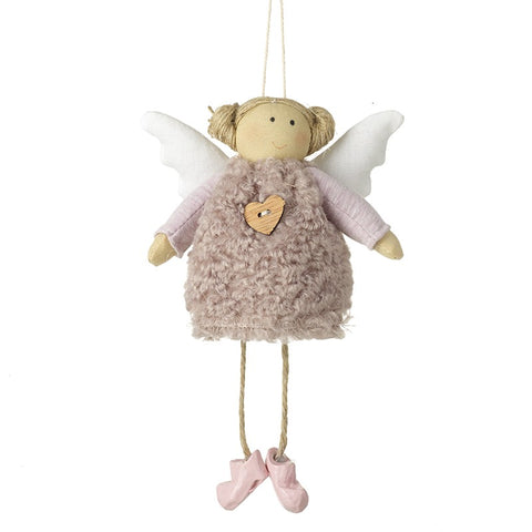 Pink Angel in Wooly Dress Hanger 8172