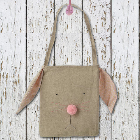 Rabbit Head Bag with Pom Pom Nose 8886