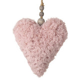 Pink Fluffy Hanging Heart 9203