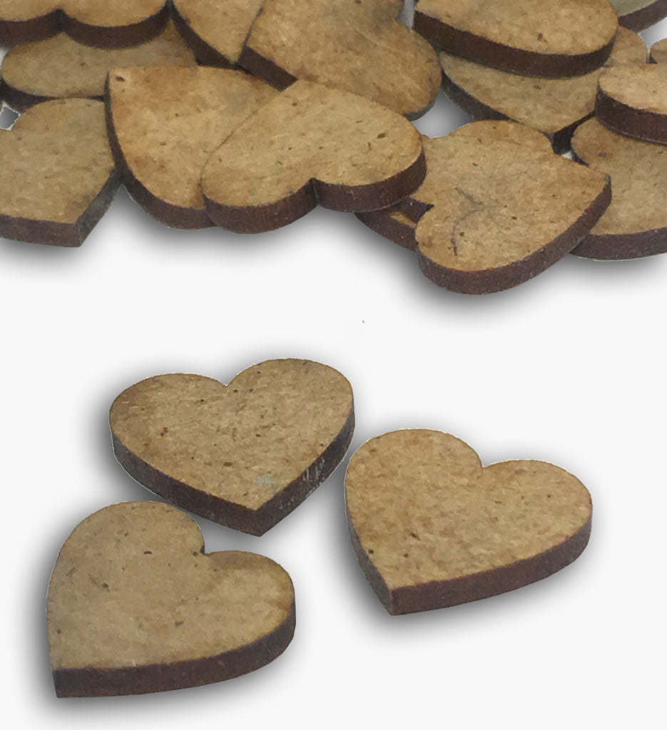 Mini Wooden Heart Embellishments 8572