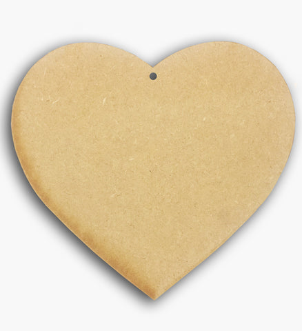 "Heart Plaque Wooden Blank 4"" 8580"