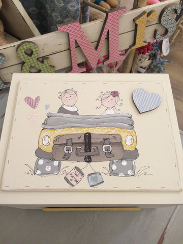 Keepsake Box Sm - Daisy Wedding Car 4395