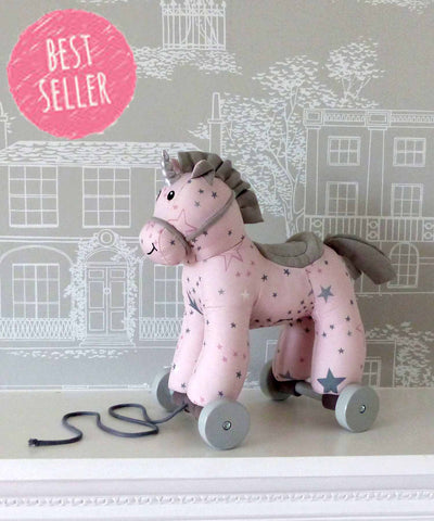 Celeste Unicorn Pull Along 8338