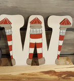 Personalised Wall Letters - Lighthouses & Beach Huts 8562