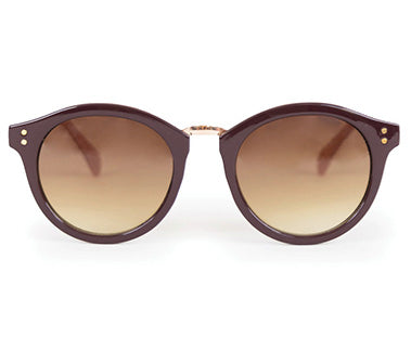 Powder Sunglasses - Megan in Damson / Stone 8596
