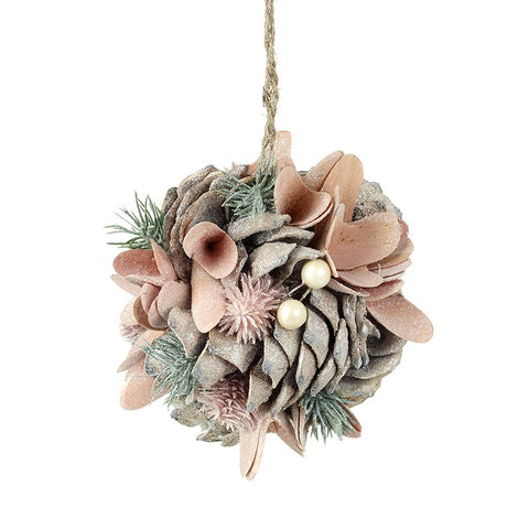 Pinecone & Bark Hanging Decoration Ball 8199