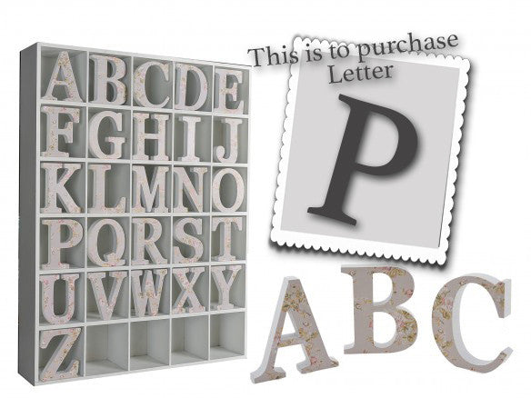 Wooden Grey Letter P 3488