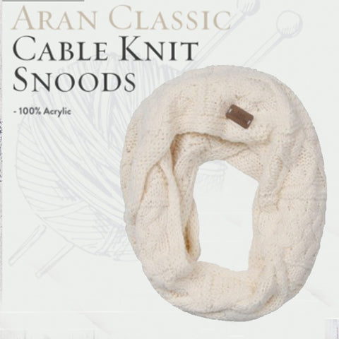 Aran Cable Snood - Cream 10763