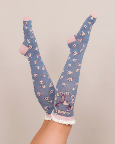 Powder Long Sock - Stag in Ice 8151