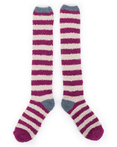 Powder Bed Sock in Damson 8154