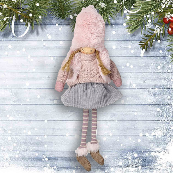 Girl with Pink Hat - Grey Skirt 10529