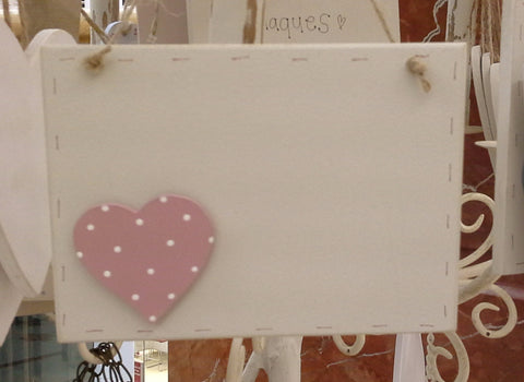 Sq Plaque with Heart 218