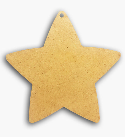 "Star Plaque Wooden Blank 4"" 8583"