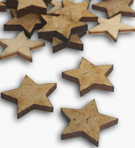 Mini Wooden Star Embellishment 8573