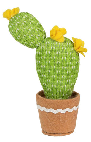 Colourful Fabric Cactus - Yellow Flower 5822