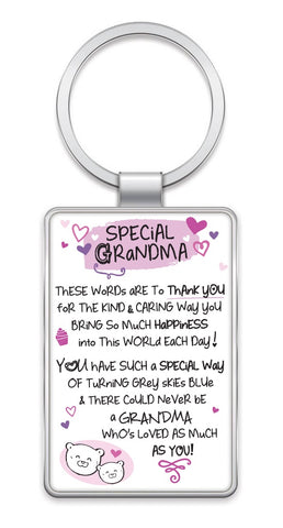 Inspired Words Keyring - Special Grandma 6440