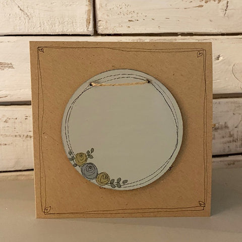 Personalised Round Roses Plaque & Card Set 9944