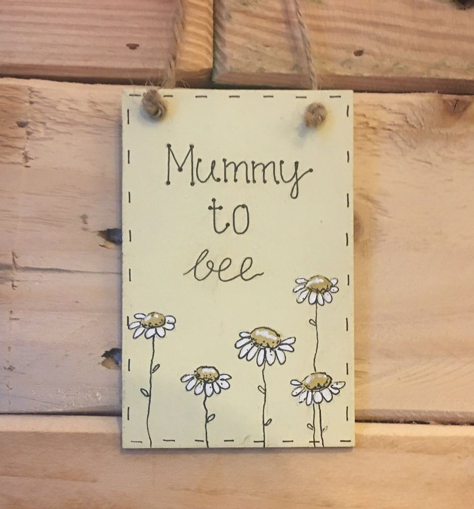Bees & Daisies Mini Plaque - Mummy to Bee  (Also available BLANK) 8619